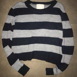 Black and gray knitted sweater